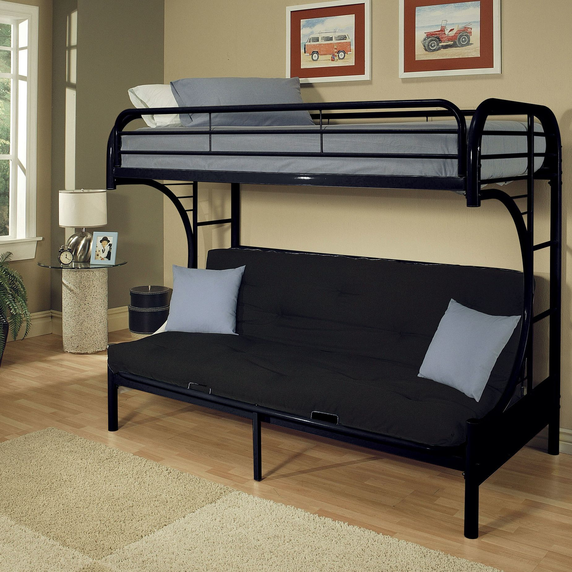 Eclipse Futon Bunk Bed Products Black