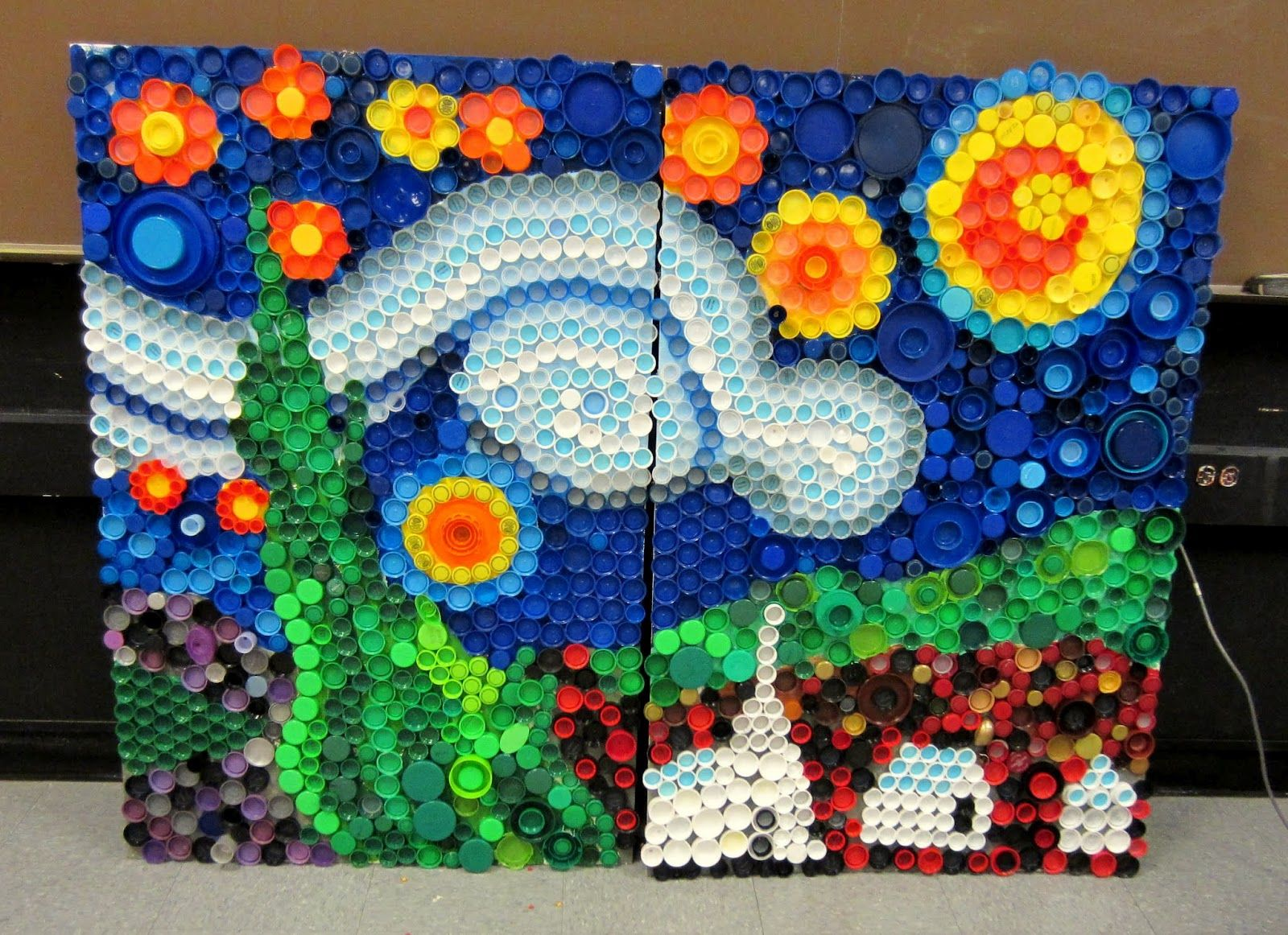Art ideas for middle school kids every cap counts our for Cool recycling projects