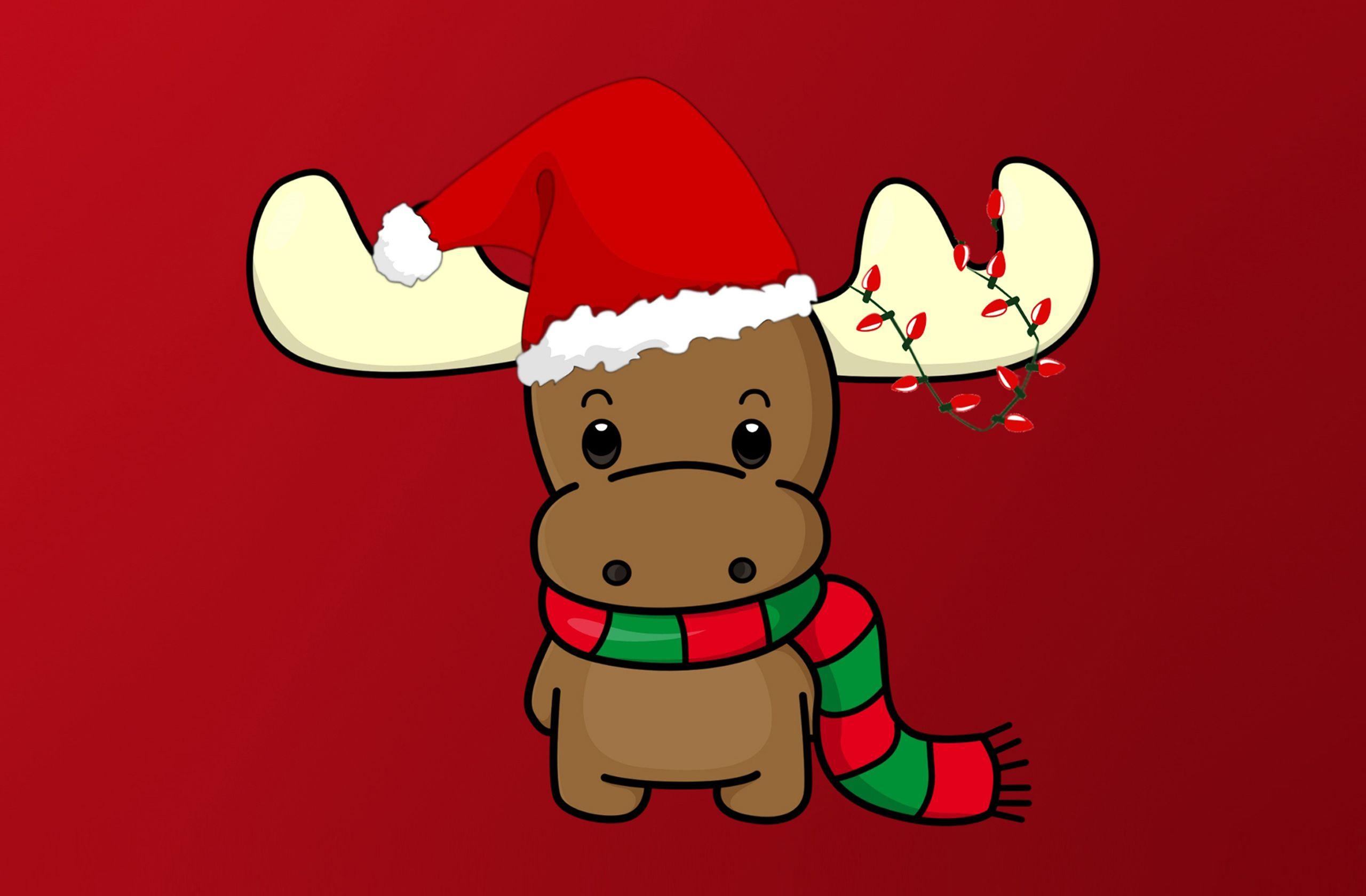 Cute christmas Reindeer HD Wallpaper Christmas wallpaper