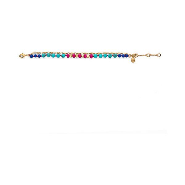 Positano Delicate Bracelet | Chloe + Isabel ($32) via Polyvore featuring jewelry, bracelets, fuschia jewelry and chloe isabel jewelry