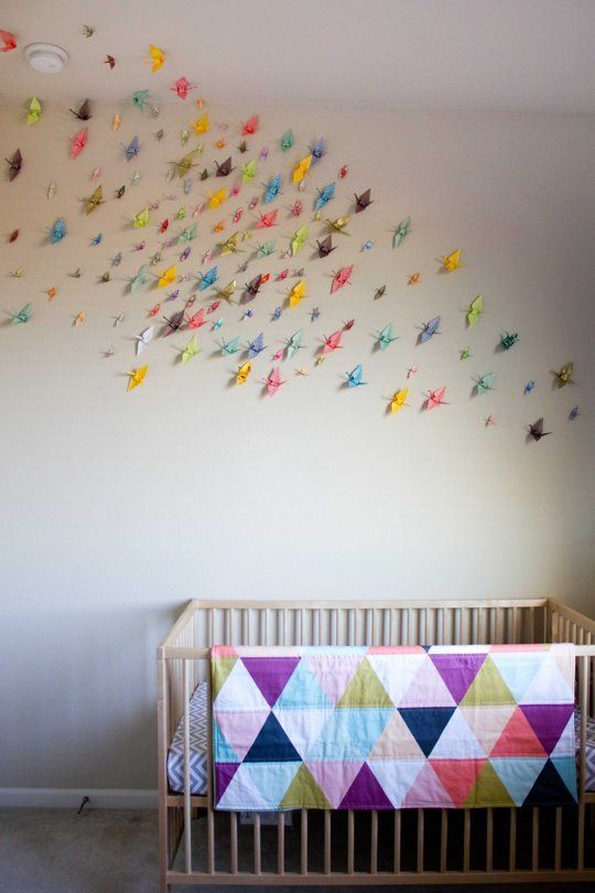 Elise 39 s origami crane nursery my room origami cranes for Origami decorations for your room