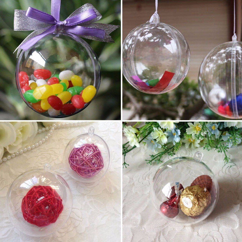 xmas tree decoration transparent plastic christmas ball - Plastic Christmas Balls