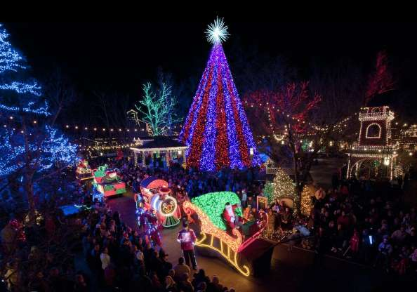 These Are The World S Most Magical Christmas Villages To Visit This Year Silver Dollar City Old Time Christmas Holiday Lights Display