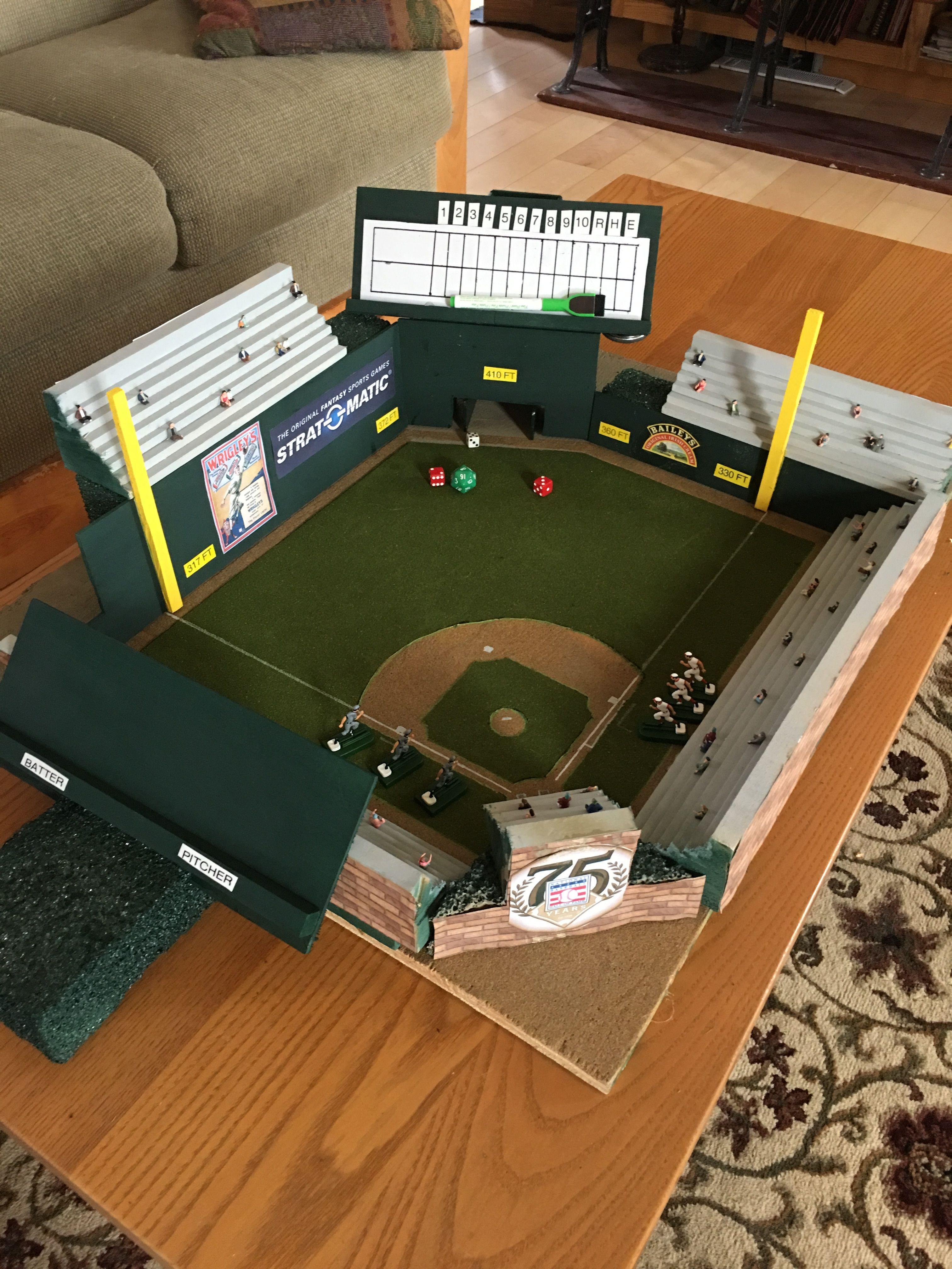 Pin By Tom Helwick On Strat O Matic Field Yeladog Park Baseball Project Baseball Stadium Baseball