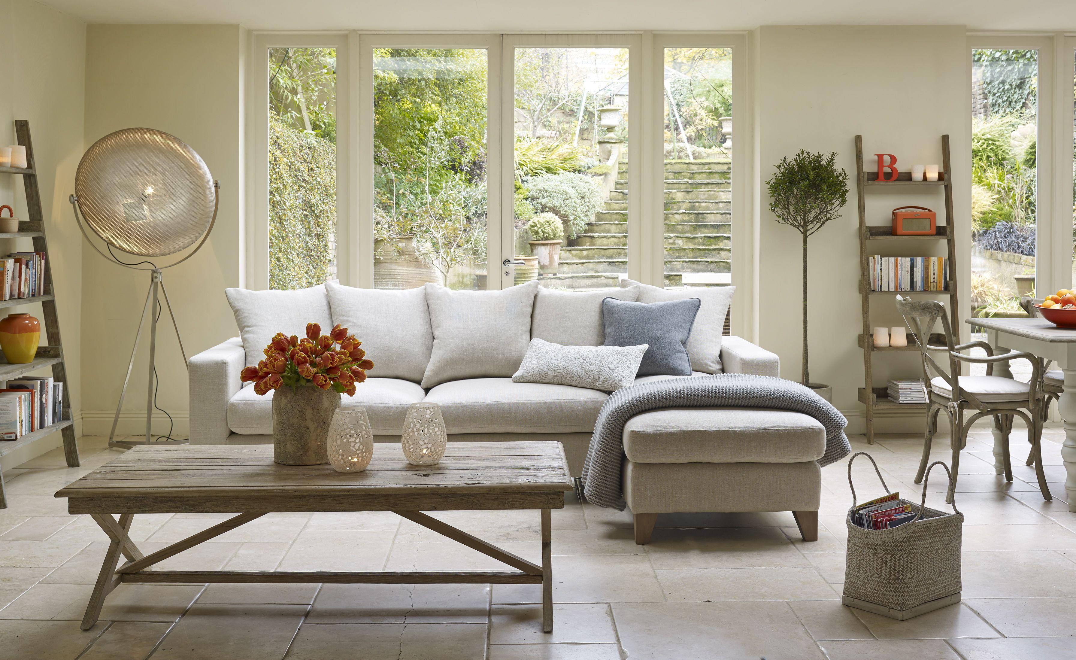 Nusa corner sofa Finn shelving & Baya coffee table a cosy