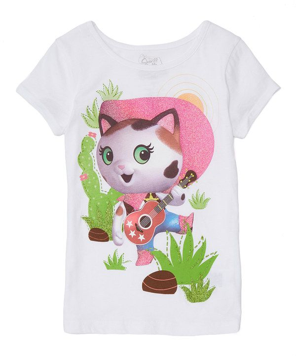 Look at this White Sheriff Callie Tee - Girls on #zulily today!