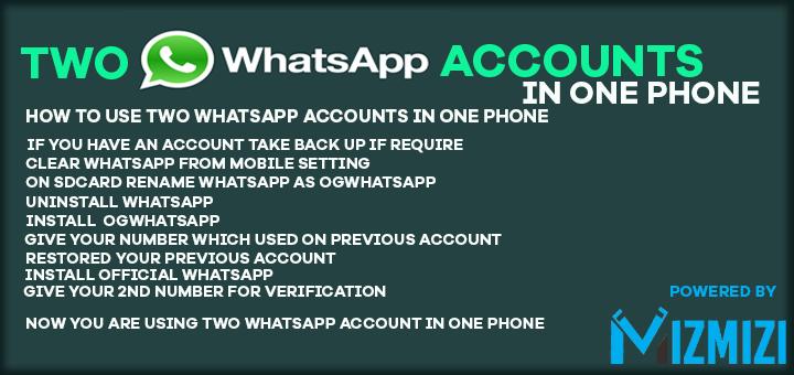 how to use two whatsapp accounts in one phone #whatsapp | Tech