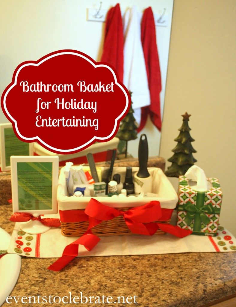 Bathroom Basket for Holiday Entertaining with a CUTE poem! - Events To Celebrate - #CottonelleHoliday #pmedia
