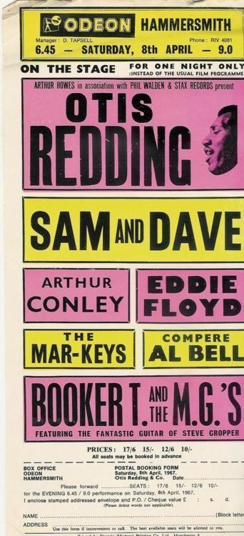 Otis Redding, Sam & Dave, Booker T. and the MGs, and more, April 8th, 1967 Saiba mais sobre Lendas da Músicas no E-Book Gratuito – 25 VOZES QUE MUDARAM A HISTÓRIA DA MÚSICA em http://mundodemusicas.com/vozes-musica/