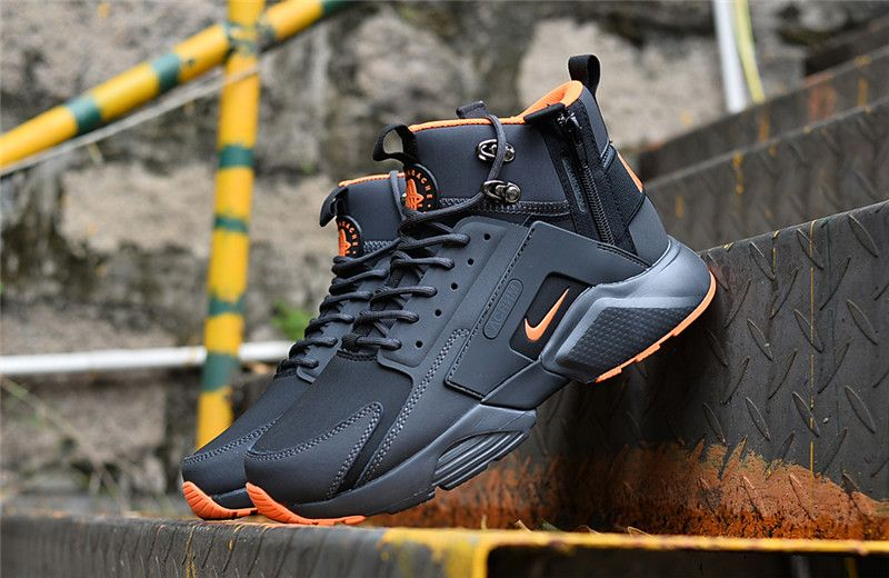 23bfe605e102 NIke Huarache X Acronym City MID Leather Winter Men s Running Sports Shoes  Carbon   Orange