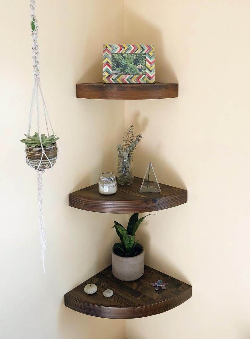 19 elegant and functional diy corner shelves that will