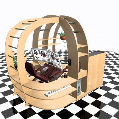 Hilton 3d Artist Designer Launches Kickstarter Project To Fund Revolutionary Reclining Desk Design The Zero Gr Computer Chair Desk Design Kickstarter Projects