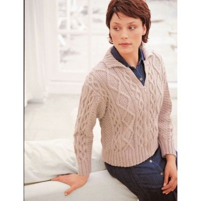 Patons Cabled Free Aran Jacket Knitting Pattern Sizes Bust
