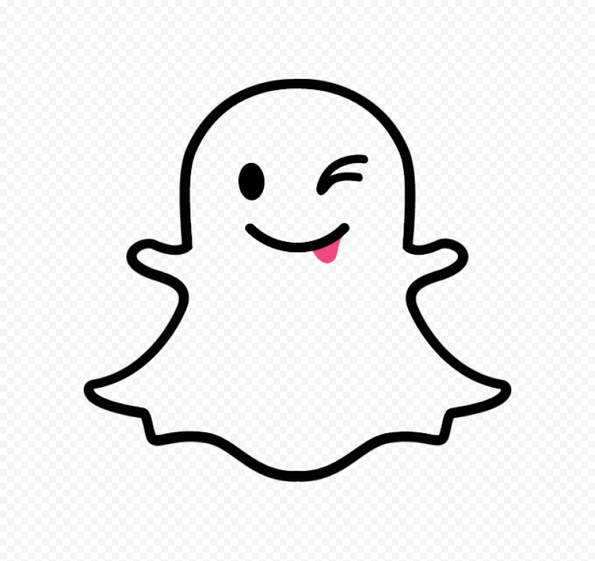 Snapchat Cute Cartoon Ghost Tongue Outline Icon Png Image Ghost Cartoon Cute Cartoon Cartoons Png