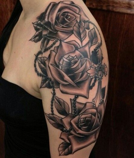 Pin By Erin Lavelle Rutz On Love Me Some Tattoos Rosary Tattoo Rose Tattoo Design Tattoos