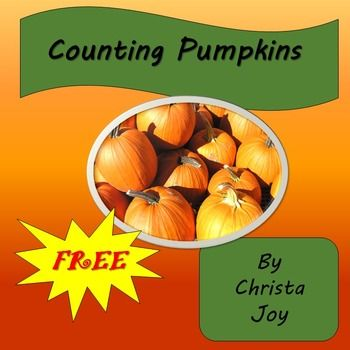 FREE Counting Pumpkins story to start your math lesson!! This free story covers an introduction to to counting scattered sets and matching numerals to set size. This free 8 page story is great for students with special learning needs, especially autism.