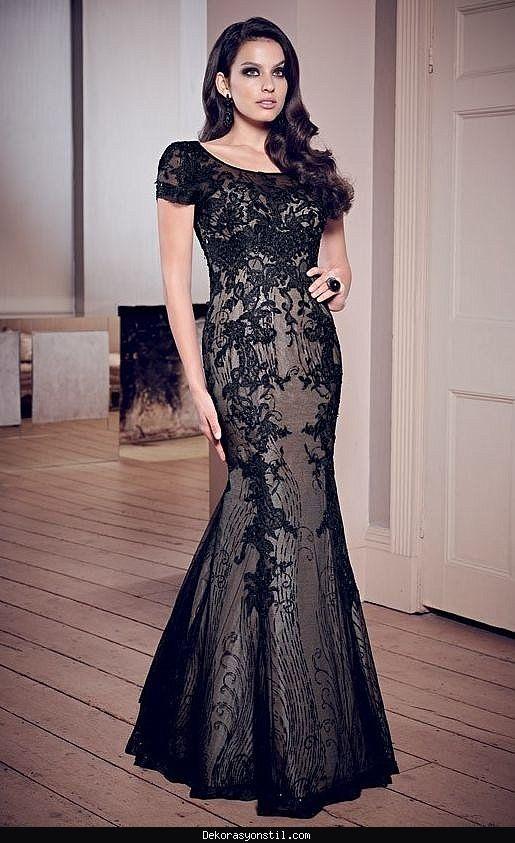 Awesome Dantel Abiye Elbise Modelleri 2016 Siyah Abiye Aksamustu Giysileri The Dress
