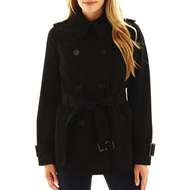 Worthington® Short Belted Trench Coat - jcpenney
