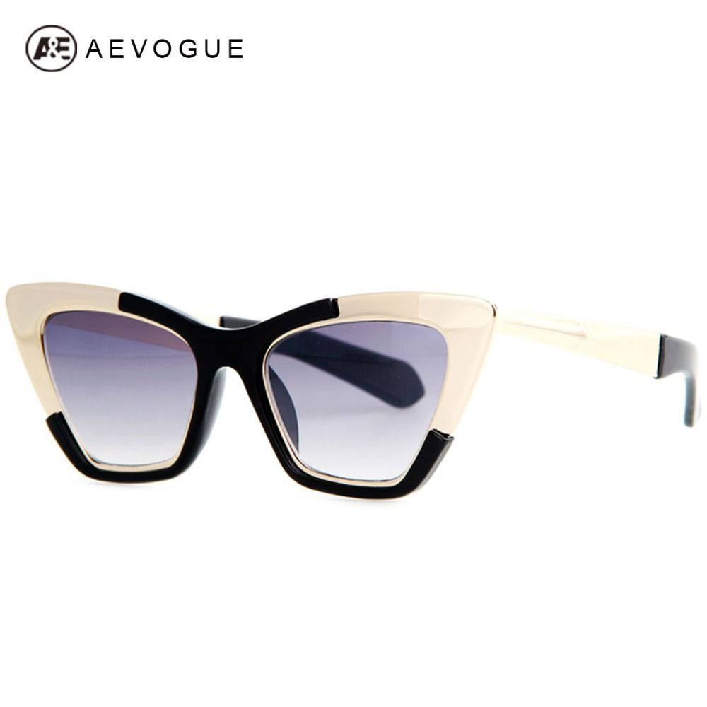 10d761c0c43c AEVOGUE Newest Cat Eye Brand Sunglasses Women Hot Selling Alloy Frame Arrow  Decoration Sun Glasses Oculos