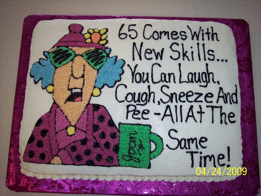 Maxine 65Th Birthday Cake on Cake Central Pinteres