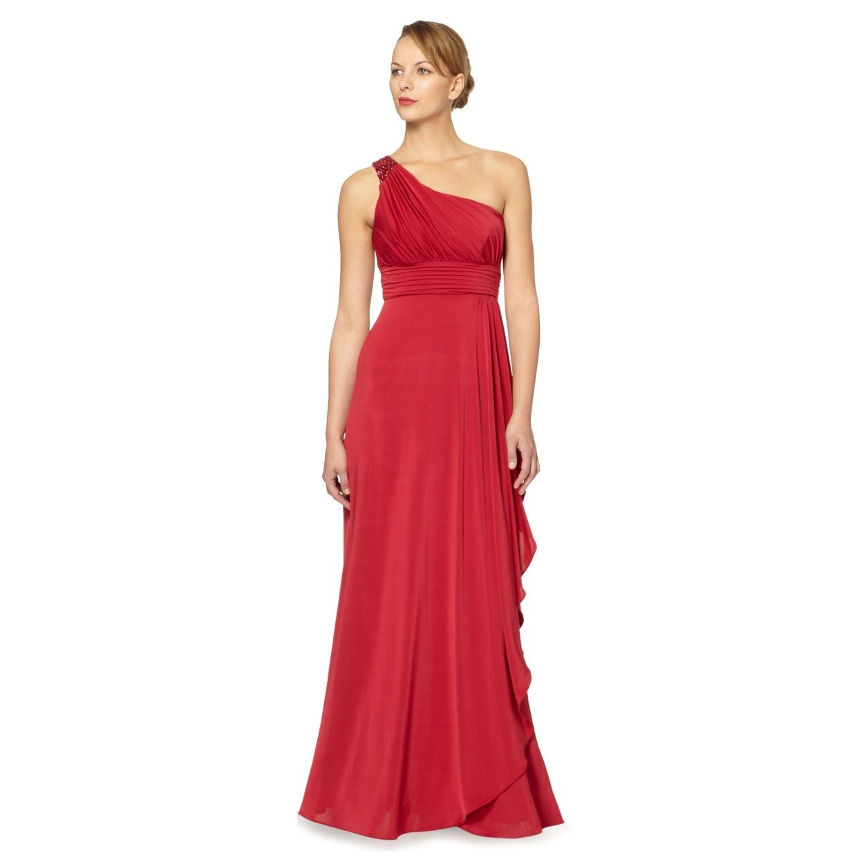 Debut red ruched one shoulder evening gown at debenhams ive debut red ruched one shoulder evening gown at debenhams i ombrellifo Image collections