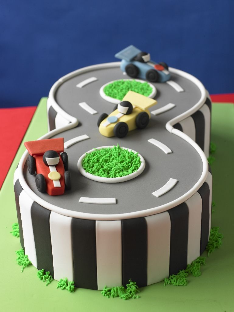 Stupendous Paste Modelling Model Race Cars Race Track Cake Cakedecorating Funny Birthday Cards Online Inifodamsfinfo