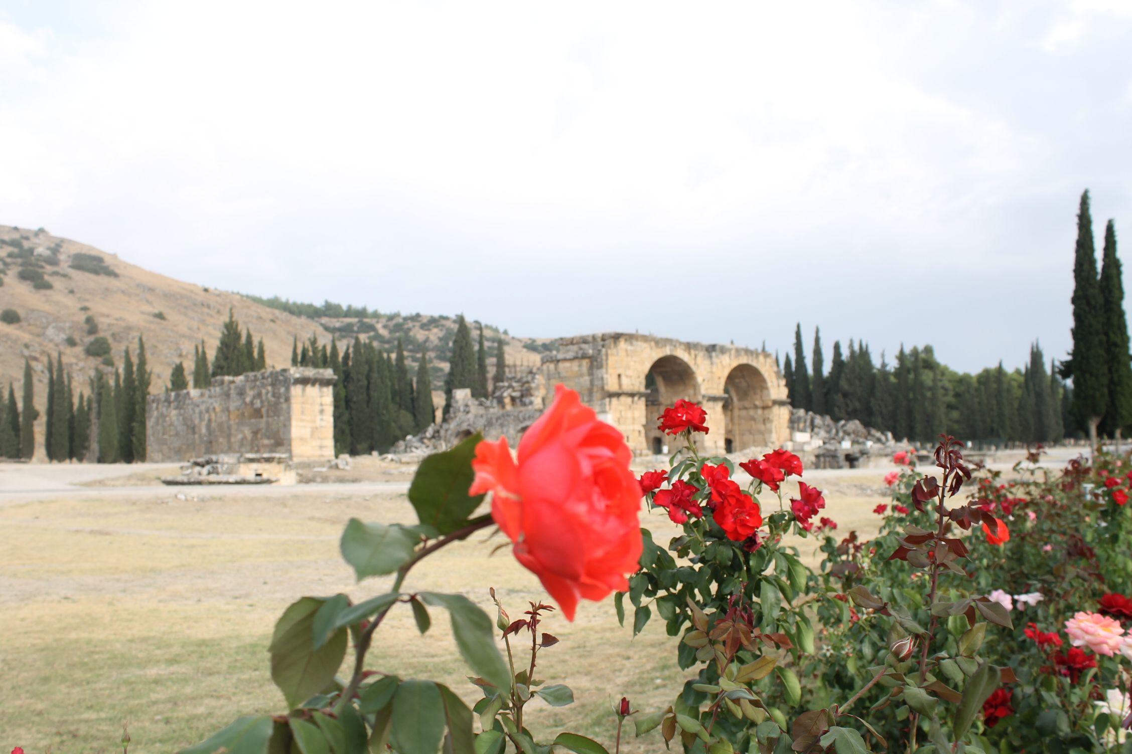 Detalle de Hierápolis en Pamukkale