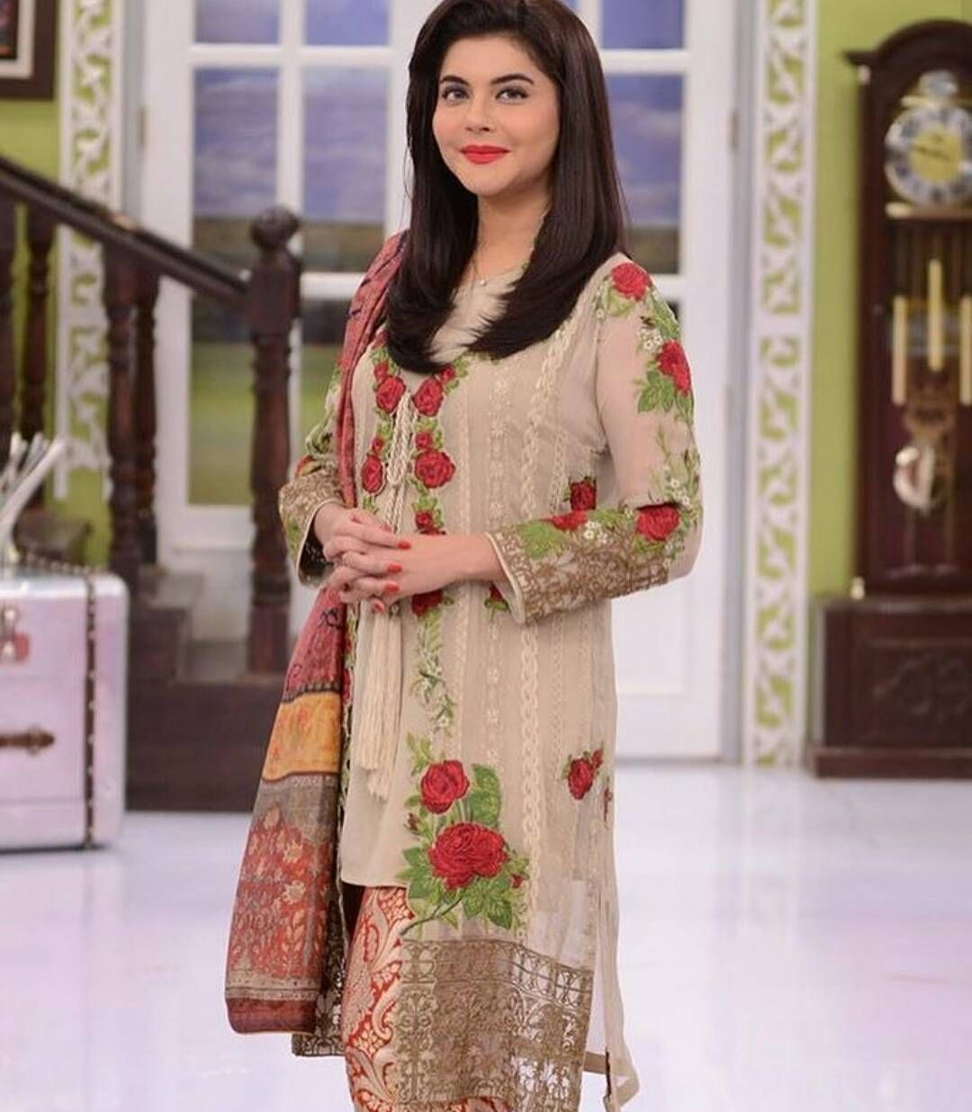 c5aeaa7259 The gorgeous Nida Yasir was spotted wearing Mahiymaan formal embroidered  collection by alzohaib today on her