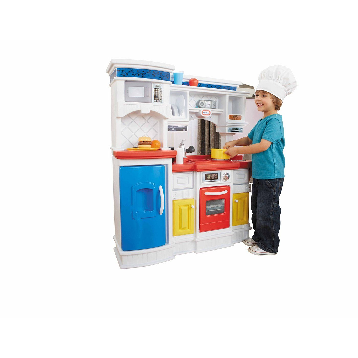 George Home Deluxe Wooden Kitchen Pretend Play Asda Direct
