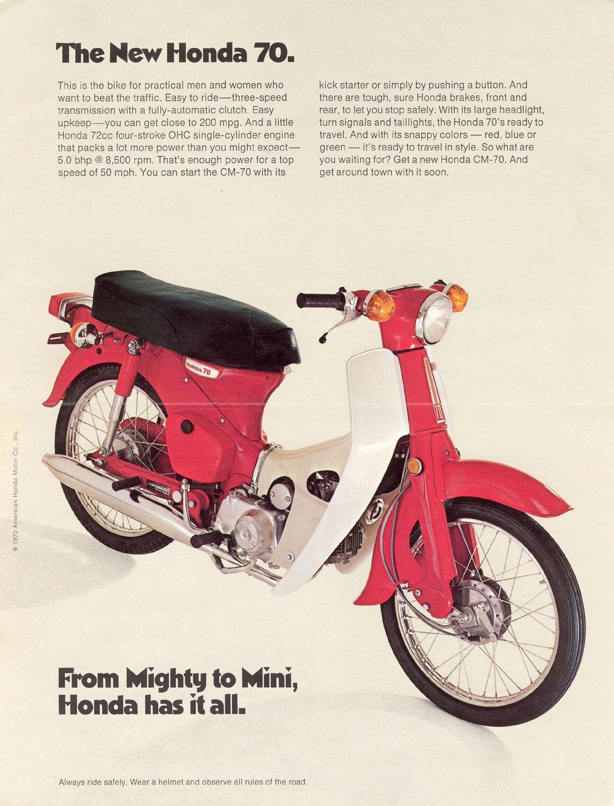 Honda CM-70. I love riding my little honda 70.   Honda Cub Ads ...