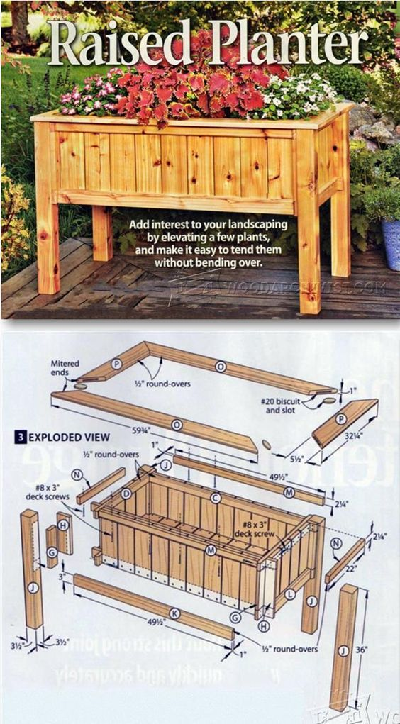 Flower Planter Plans Outdoor Plans And Projects Woodarchivist Com Woodworking Projects Plans Woodworking Projects Diy Woodworking Plans