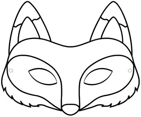 Pdf masque renard a colorier deguisements masque - Coloriage masque halloween ...