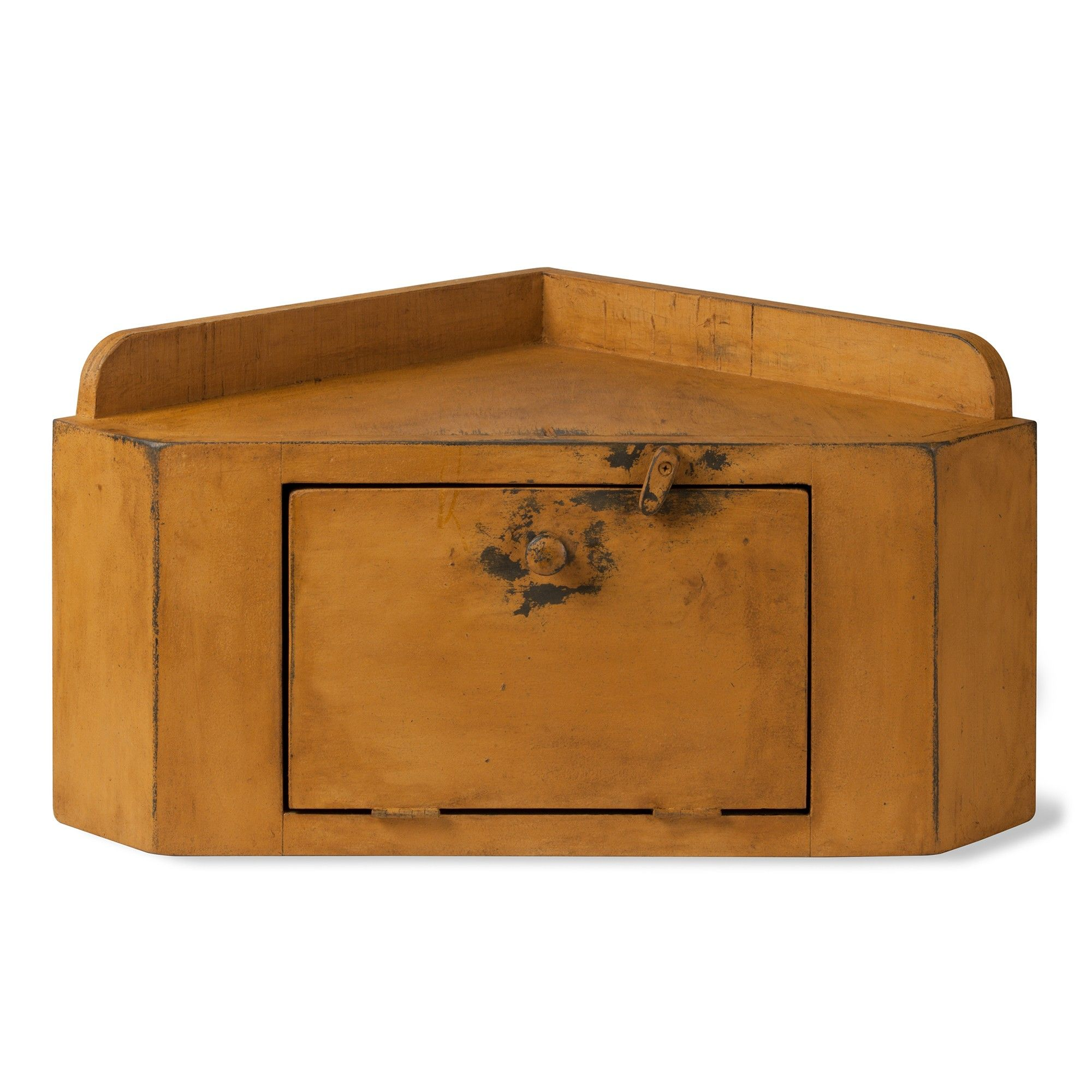 Primitive corner bread box cupboard sturbridge yankee workshop