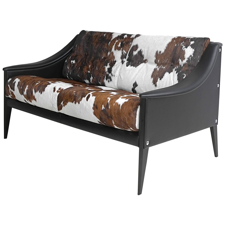 "Modern Furniture Upholstery gio ponti ""dezza"" cowhide sofapoltrona frau | gio ponti, black"