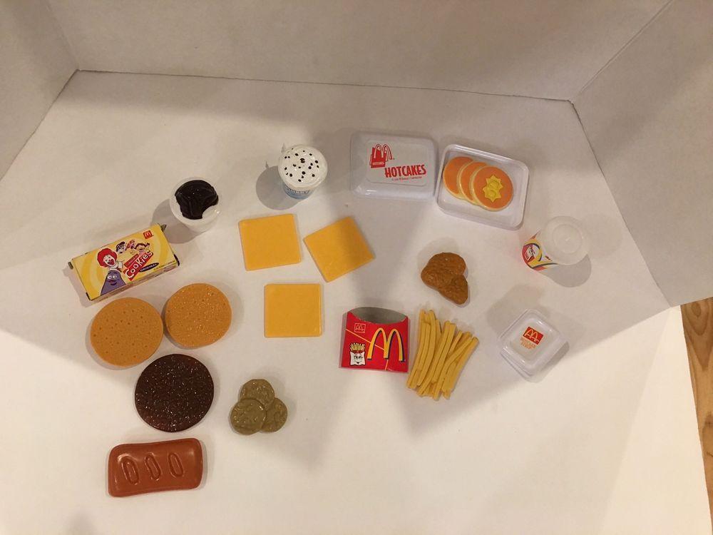 McDonalds Play Food Pancakes Fries Hamburger Cheese