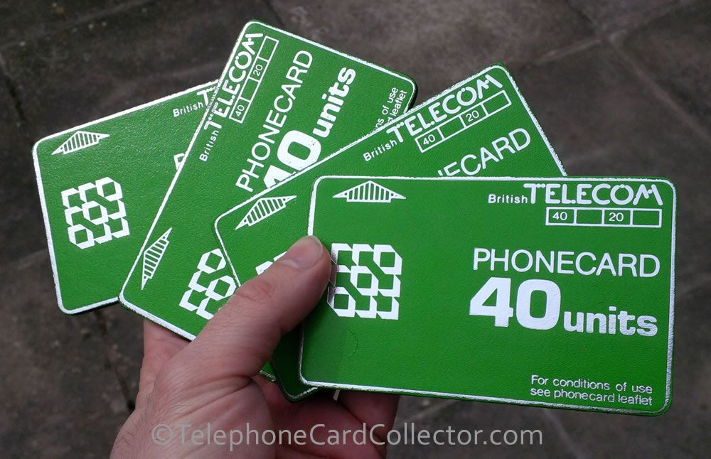 Bt phonecard set of four coasters marketing information
