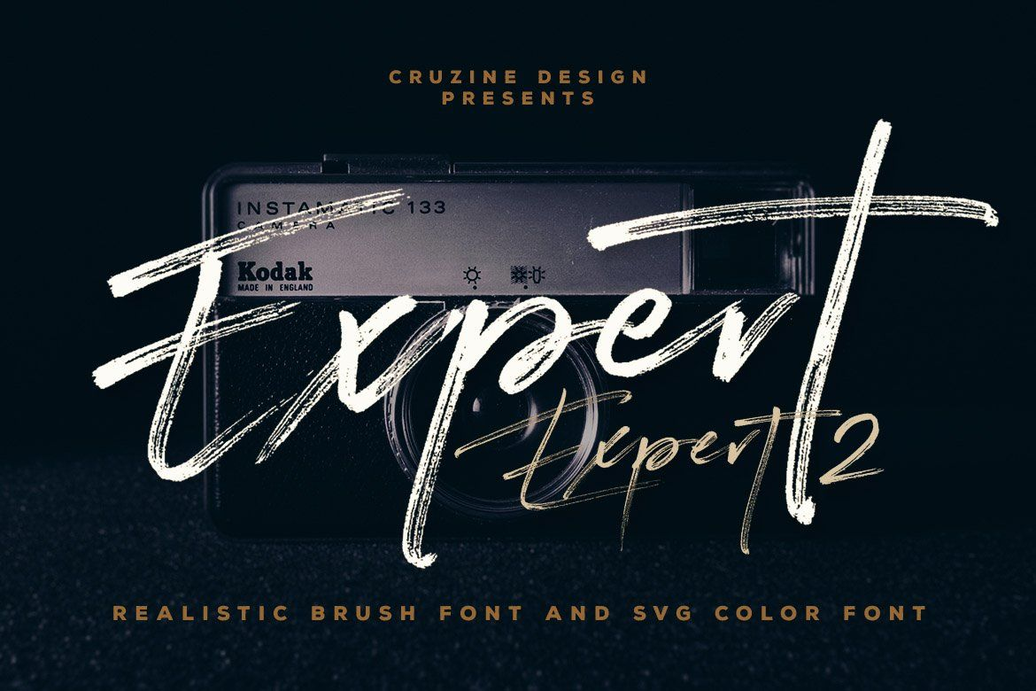 Expert Brush Svg Font In 2020 Photoshop Fonts Brush Font