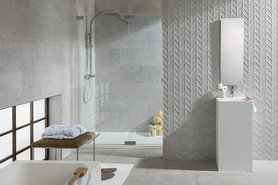 What S Trending Herringbone Chevron Porcelanosa Tile Bathroom Bathroom Decor Chevron Bathroom