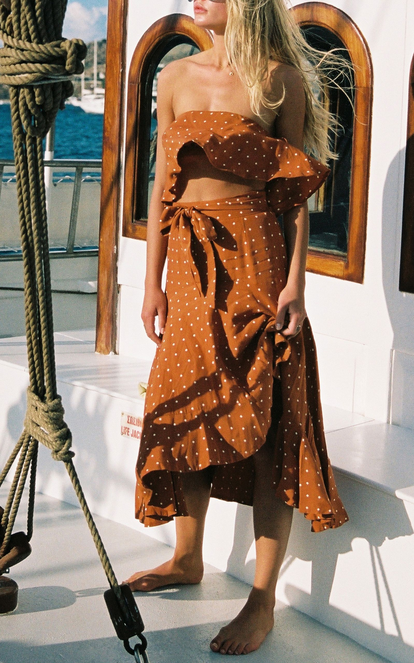 Solana Linen Strapless Top | W e a r | Fashion dresses ...