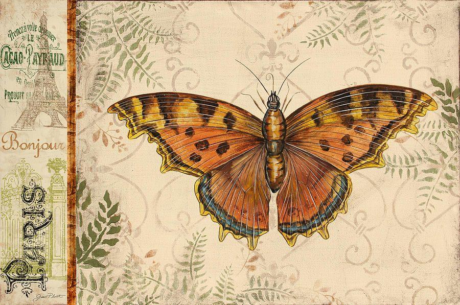 Vintage Wings-paris-d Painting  - Vintage Wings-paris-d Fine Art Print