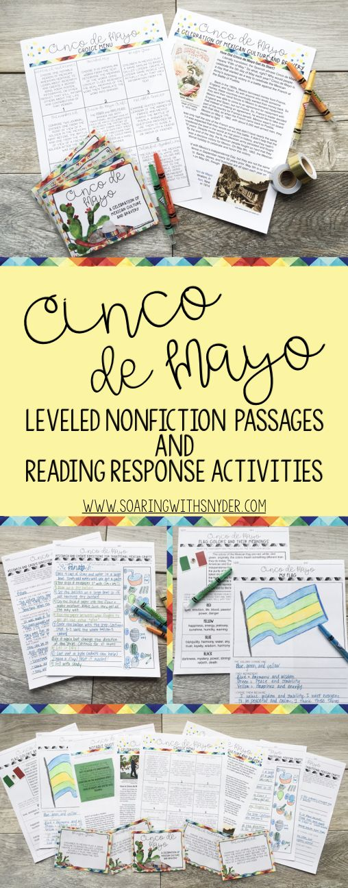 Cinco De Mayo Reading Passages Leveled Texts And Reading