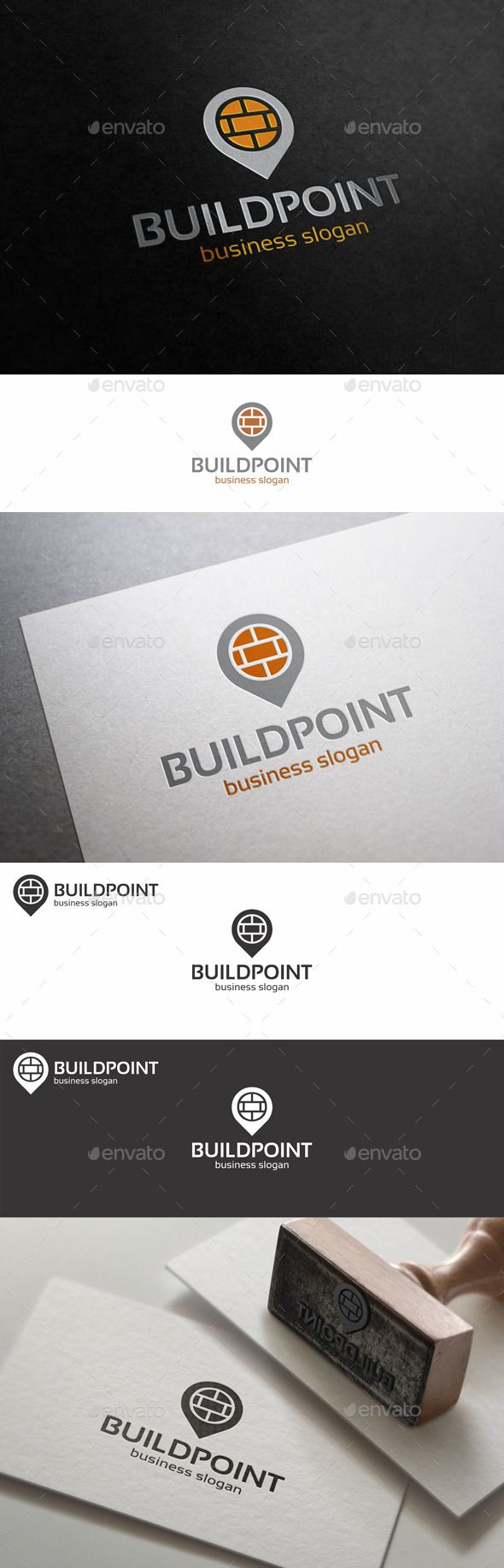 Build Point Place Logo Template Logo's, Huisstijl