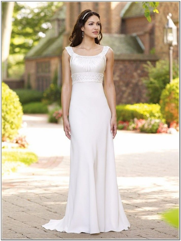 Outdoor Wedding Dresses Casual With Round Neckline And Satin Fabric 700 933