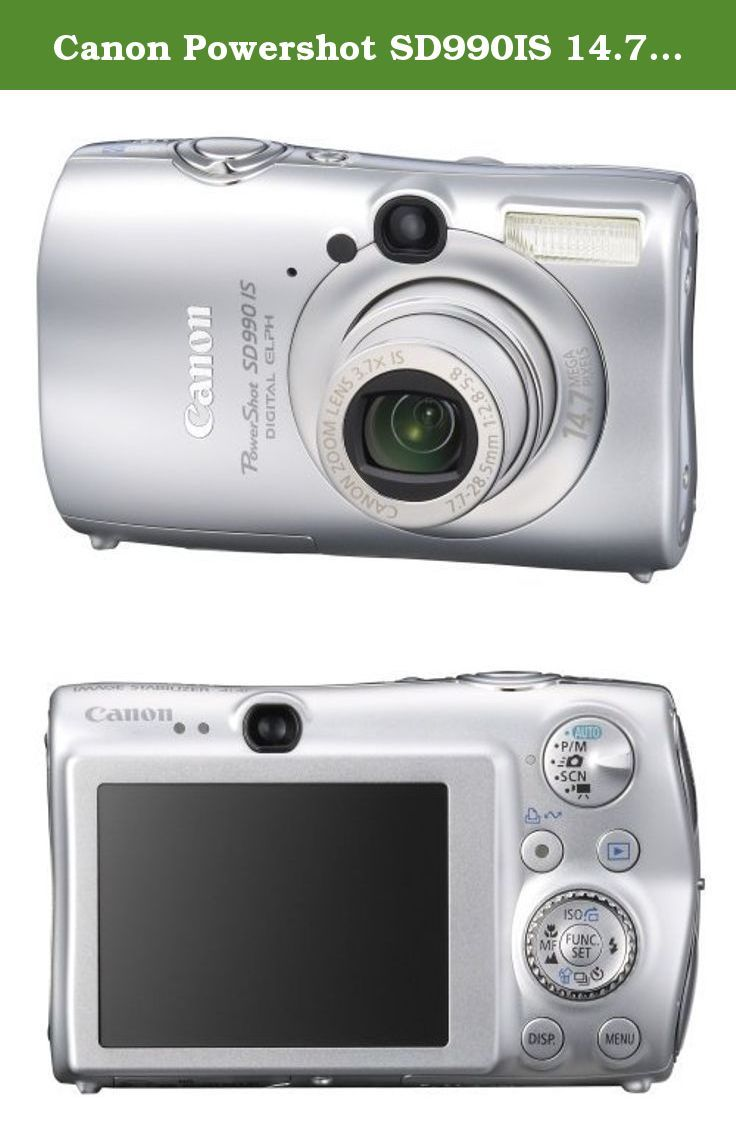 Canon Powershot Sd990is 14 7mp Digital Camera With 3 7x Optical Image Stabilized Zoom Silver When You Re Ready To Expe Digital Camera Powershot Camera Photo