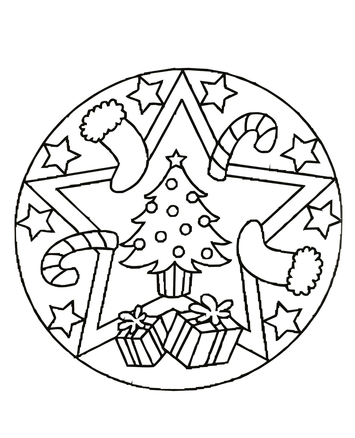 mandala 62 coloring page free painting coloring pages - Christmas Mandalas Coloring Book