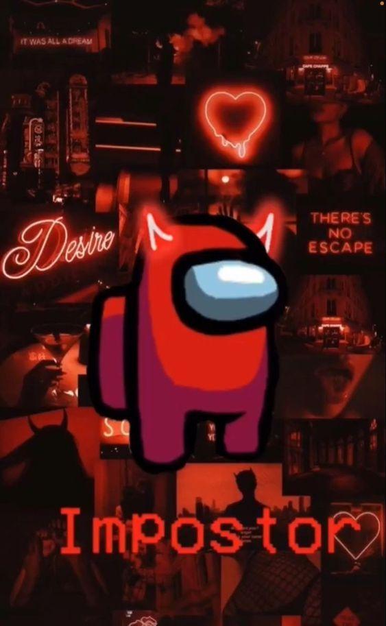 Impostor Among Us Wallpaper Glittery Wallpaper Wallpaper Iphone Neon Red Wallpaper