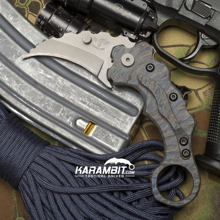 James Coogler's Flamed Ridgeback Folding Karambit - Karambit.com