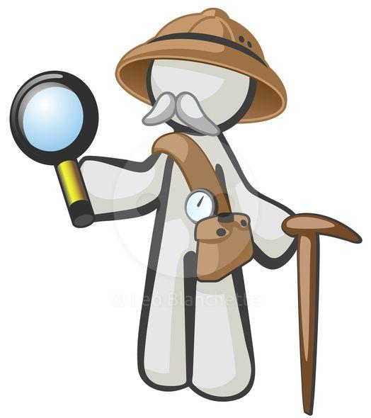 White Character Old Explorer - Stock Illustration by Leo Blanchette