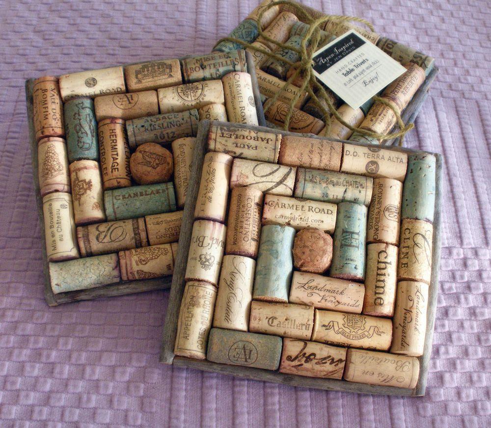 Cork trivets | Homemade Crafts | Pinterest