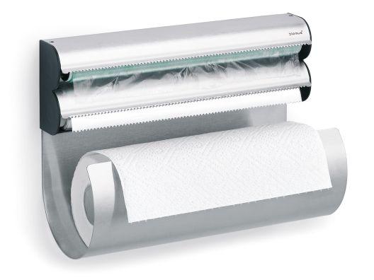 Smartest thing ever! Paper towel, Saran Wrap  Foil!!! I think I